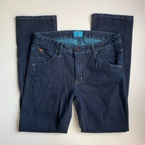 Hudson Straight Leg Dark Wash Jeans Size 28